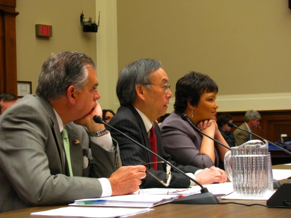 Ray LaHood, Steven Chu, and Lisa Jackson testify before the House Energy and Commerce Committee.