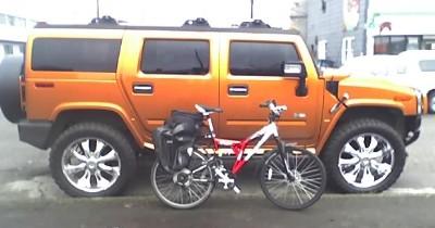 bike and hummer