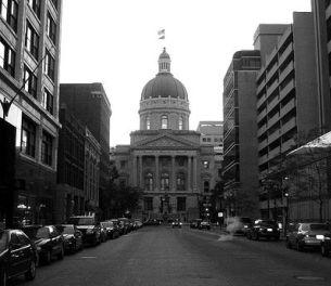 Indiana's statehouse.