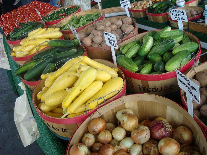 A farmer's market in North Carolina.