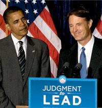 Evan Bayh and Barack Obama