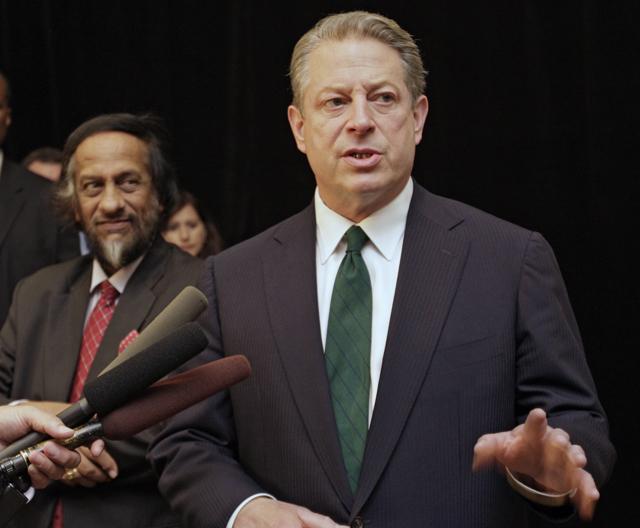 Al Gore and R.K. Pachauri