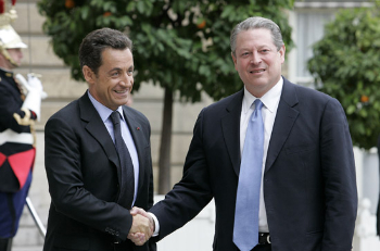 Nicolas Sarkozy and Al Gore