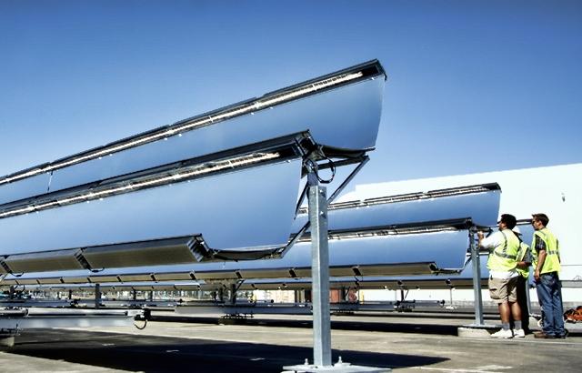 Skyline solar array