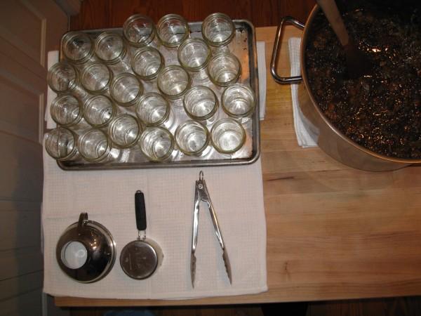Canning setup.