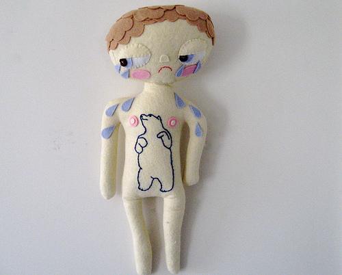 Plush doll from Fiber Arctic exhibit