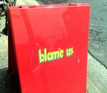 Blame sign.