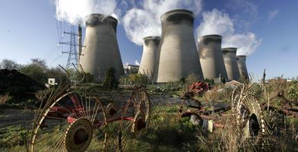 Ferrybridge coal plant in Britain