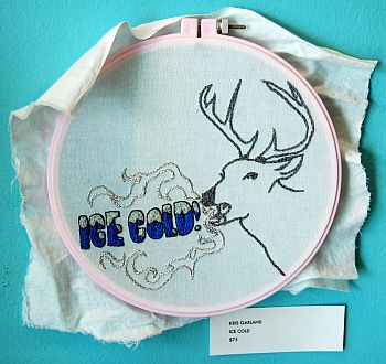 """""""Ice Cold"""" embroidery"""