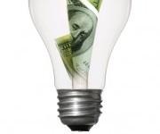 Money in a light bulb.