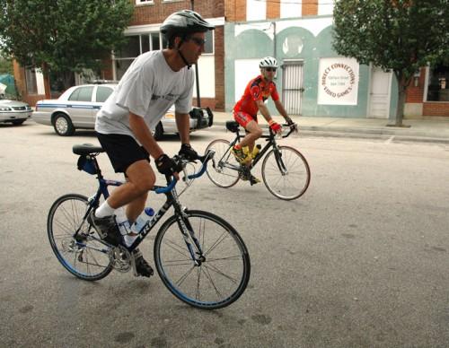 Mark Sanford on bike