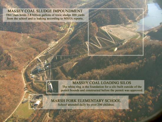 Massey Coal Sludge Impoundment