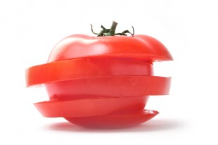 Sliced tomato.