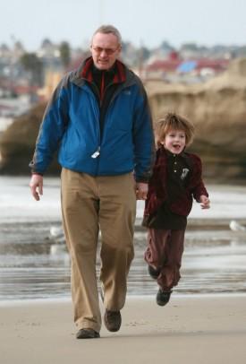 Sven and Elias on the beach