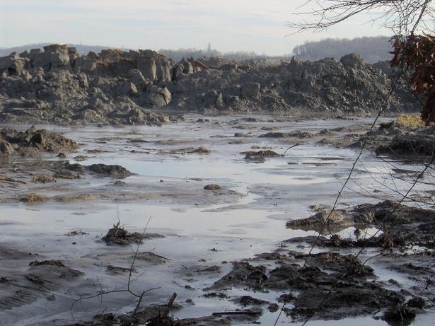 Ash spill