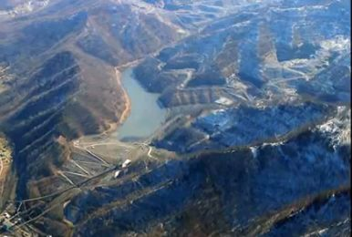 Mountaintop removal operation.