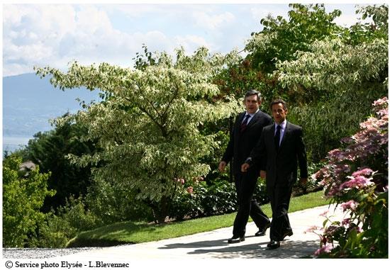 Nicolas Sarkozy and Gordon Brown