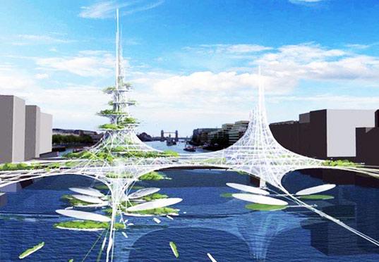 London Bridge vertical farm design