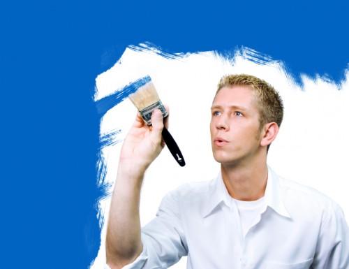 blue painter