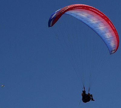 Man parachuting