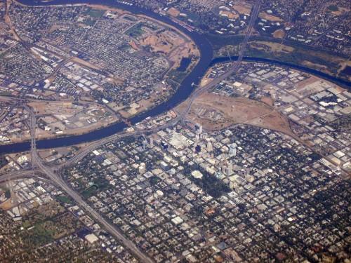 Sacramento aerial view