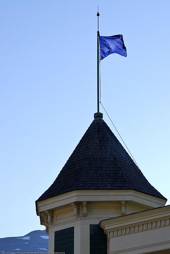 Alaska's state flag.