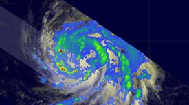 radar image of hurricane bill