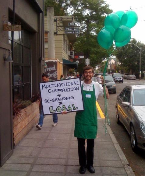 Starbucks protestor-local