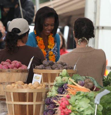 Michelle Obama at White House Farmer's Market