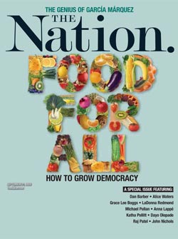 The Nation's food issue cover