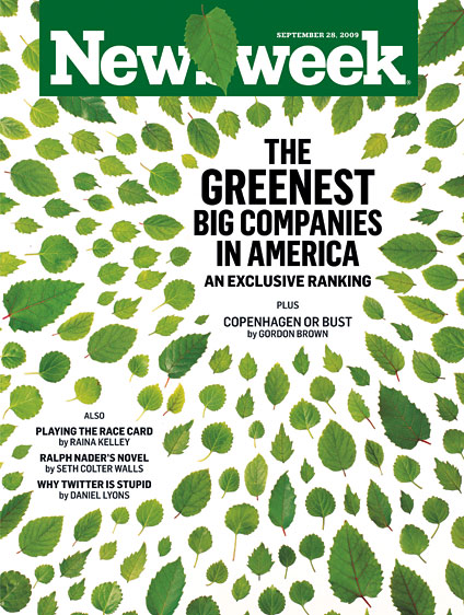 Newsweek's greenest companies issue