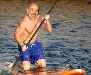 Waxman paddle boarding