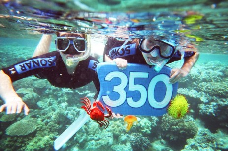 350 scuba divers at Great Barrier Reef