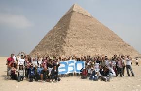 350 at the pyramids