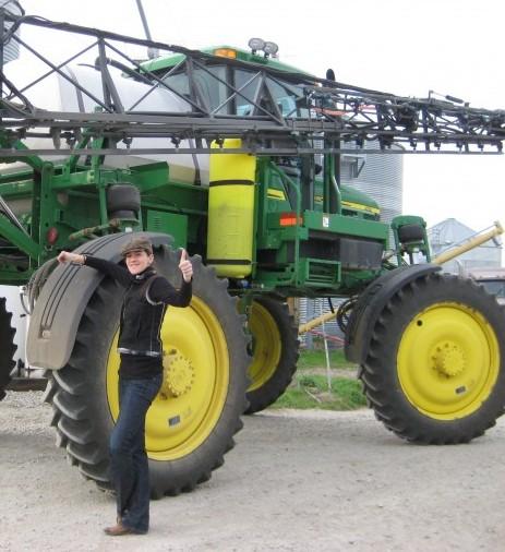 Amanda Little on the farm