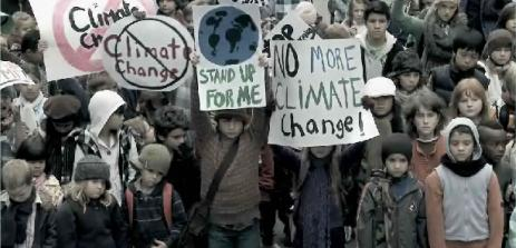 Children in protest