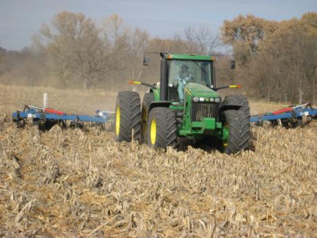 Ken McCauley's corn fields getting their booster shots.