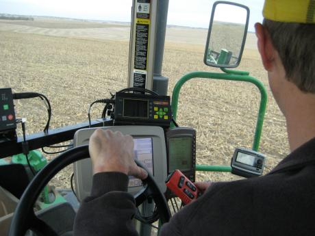 This tractor is high-tech.