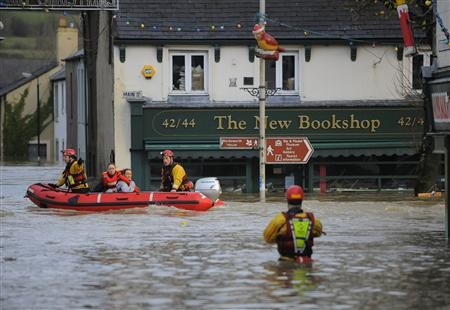 Britain hit by floods after record rainfall