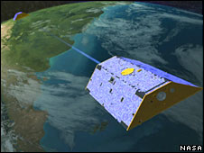 Artist's impression of Grace satellite in orbit