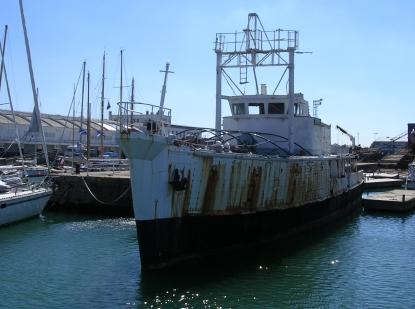 Cousteau's Calypso.