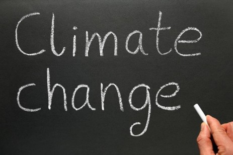 """climate change"" on chalkboard"