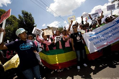 Ethiopian 350 protest.