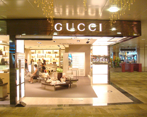 Gucci storefront.