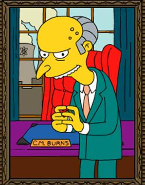 Simpsons' Mr. Burns.