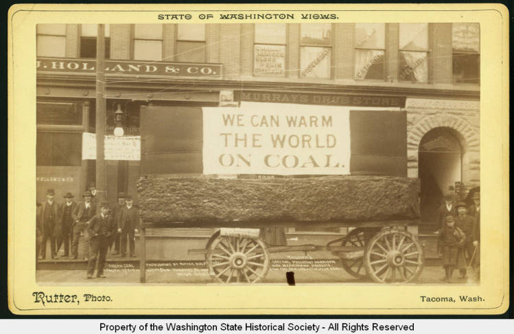 Washington State Historical Society: We can warm the world with coal