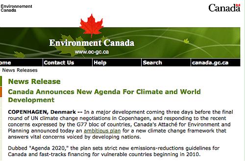 """Canada """"announcement"""""""