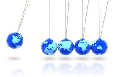 Globes pendulum.