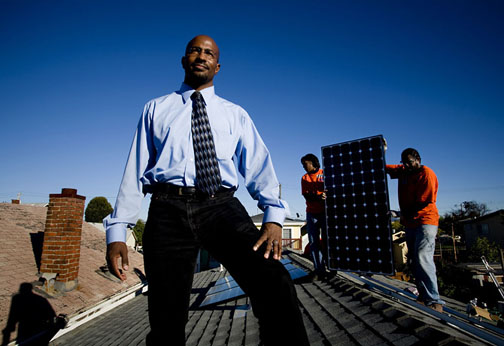 Van Jones on roof