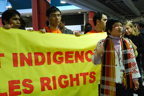 indigenous protest sign